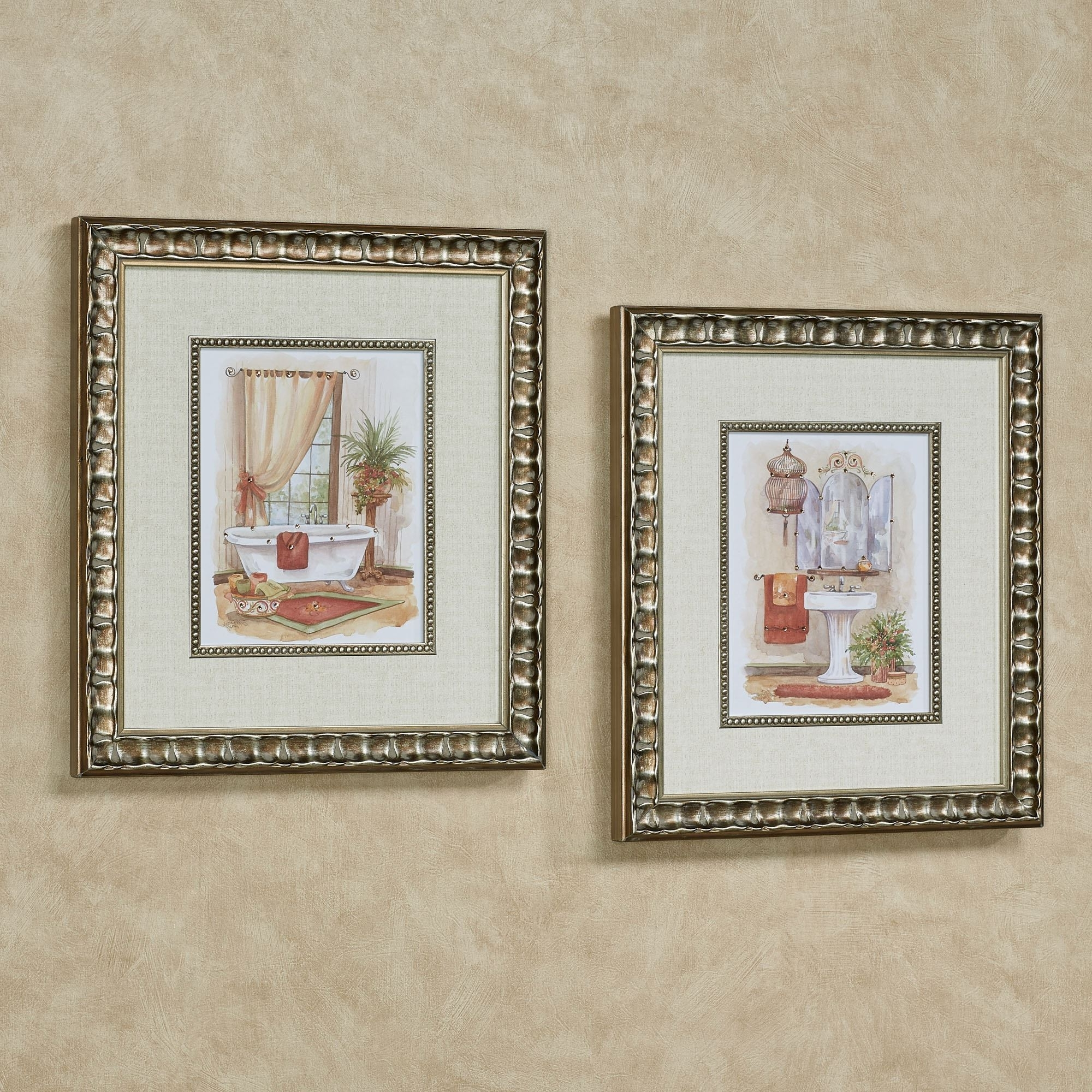 Watercolor Bath In Spice Framed Wall Art Within Best And Newest Framed Wall Art (View 6 of 15)