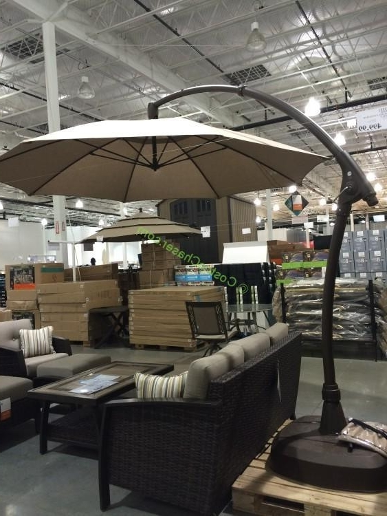 Well Known 11 Offset Patio Umbrella Best Of Proshade 11′ Parasol Cantilever With Patio Umbrellas From Costco (View 2 of 15)
