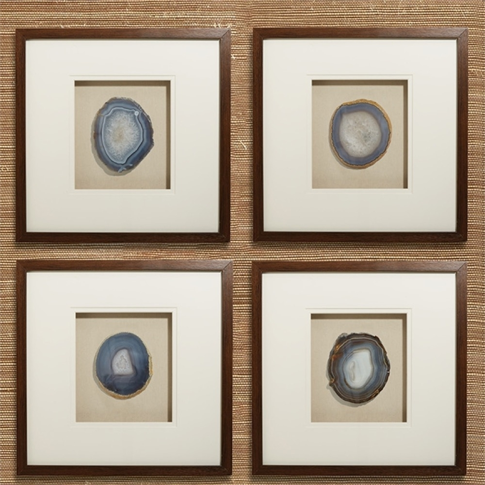 Well Known Agate Wall Art Intended For Genuine Geode And Agate Wall Art Set Of 4Tozai Home – Seven Colonial (View 14 of 15)