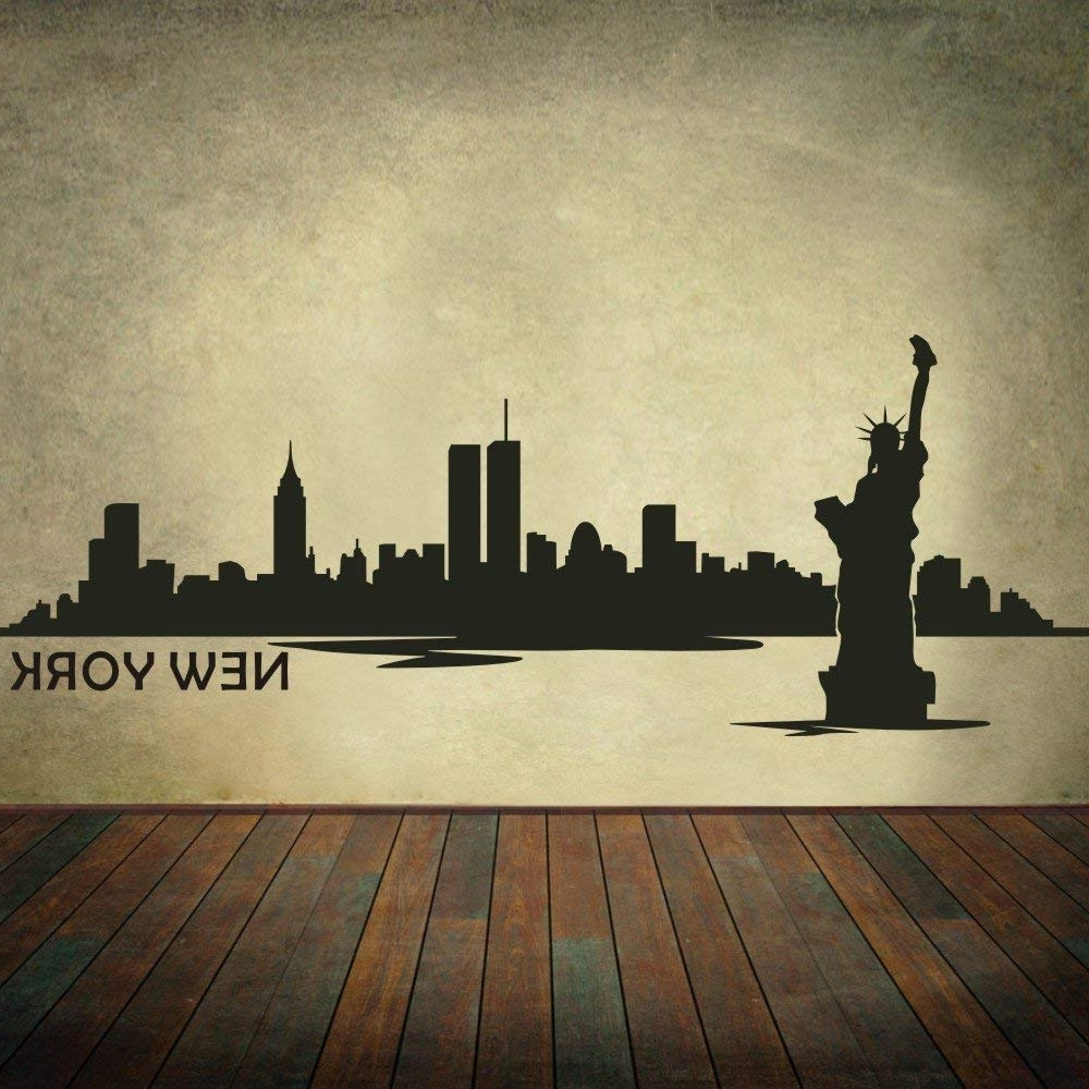 Well Known Amazon: New York City Skyline Wall Decal Vinyl Ctiy Wall Decor With Regard To New York City Wall Art (View 13 of 15)