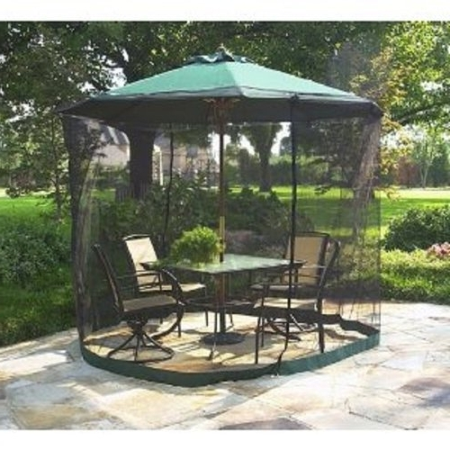 Well Known Amazon : Patio Umbrella Mosquito Net 9Ft Umbrella Black Inside Patio Umbrellas With Netting (View 14 of 15)