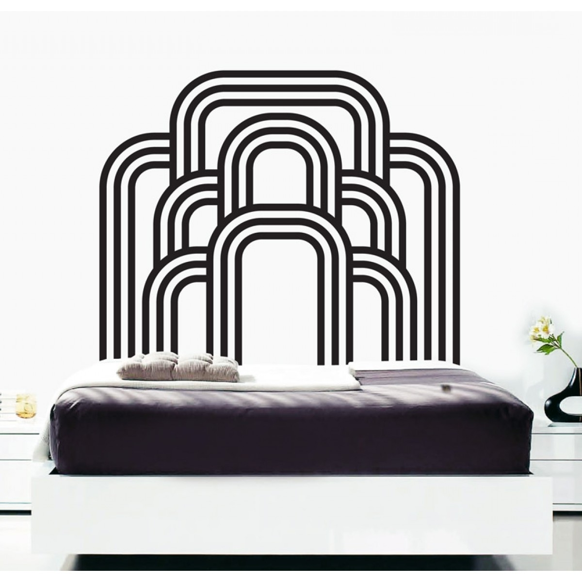 Well Known Art Deco Wall Art Intended For Wall Decals – Thewonderwalls® (View 6 of 15)