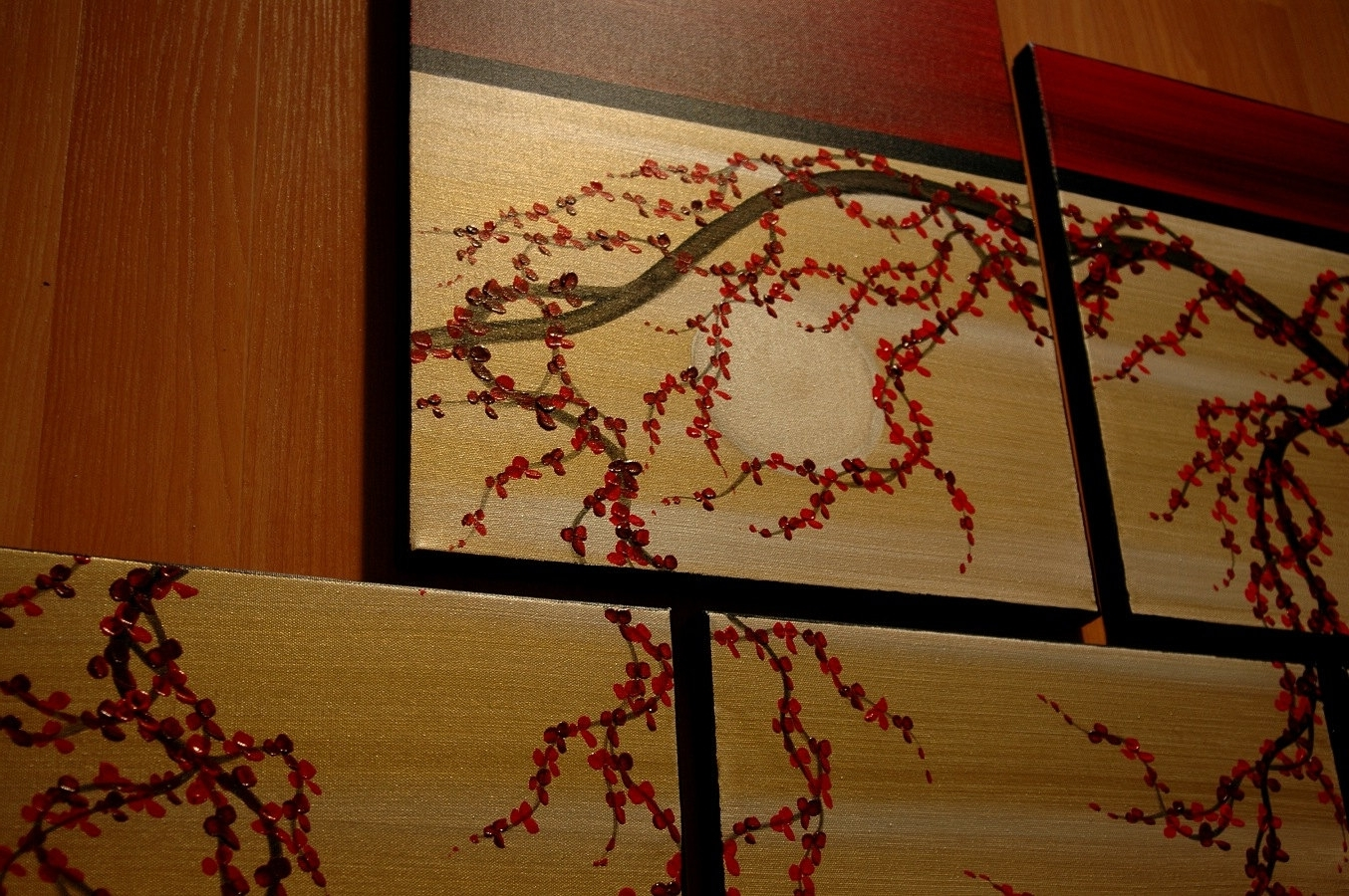 Well Known Asian Wall Art In Huge Zen Wall Art Red And Gold Large Painting Contemporary Abstract (View 10 of 15)