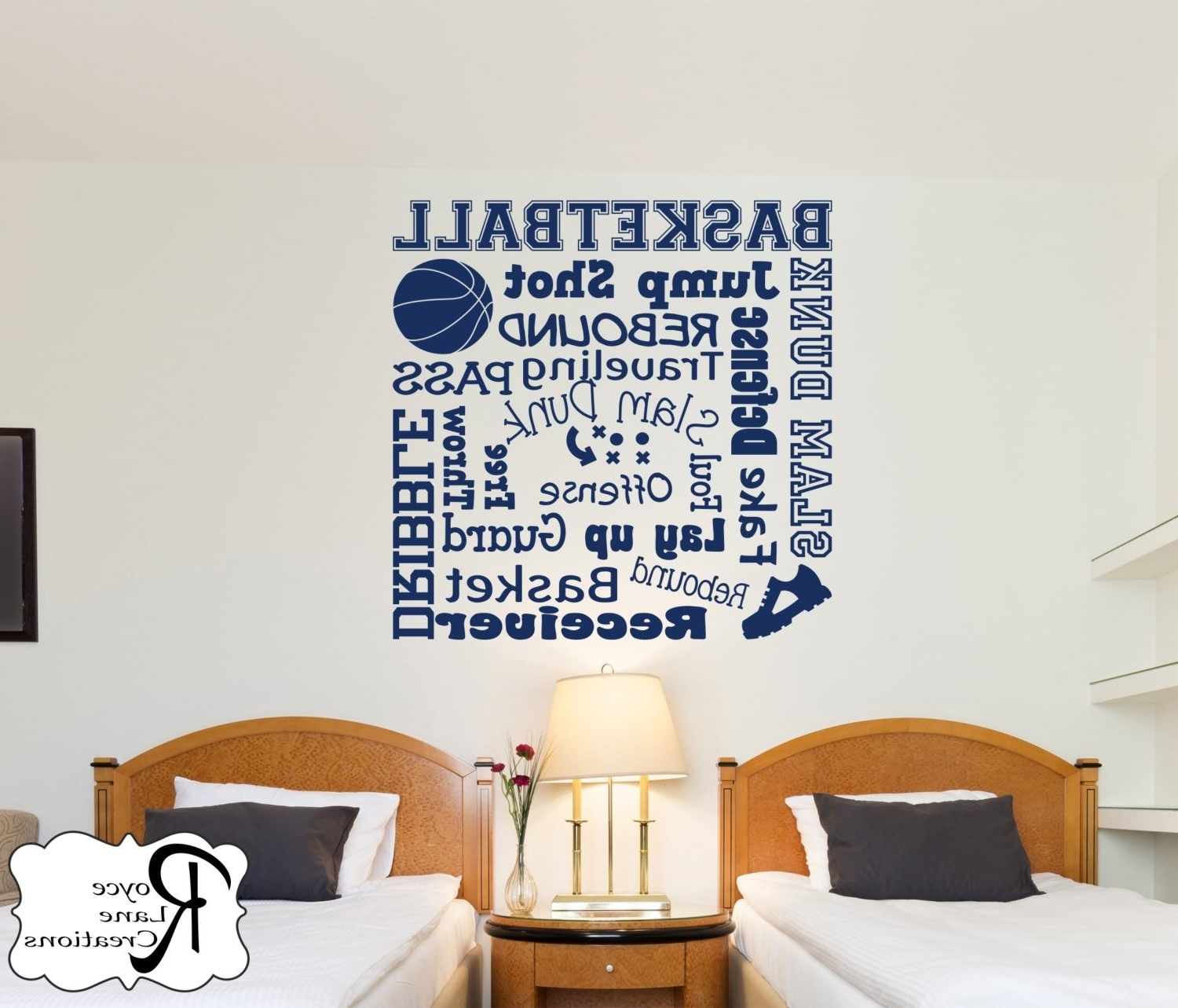 Well Known Basketball Wall Art With Regard To Basketball Wall Decal/basketball Wall Decals Word Art 2/sports Decor (View 10 of 15)
