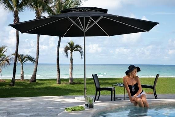 Well Known Best Black Patio Umbrella Patio Umbrellas Overview Caravita Regarding Black Patio Umbrellas (View 10 of 15)