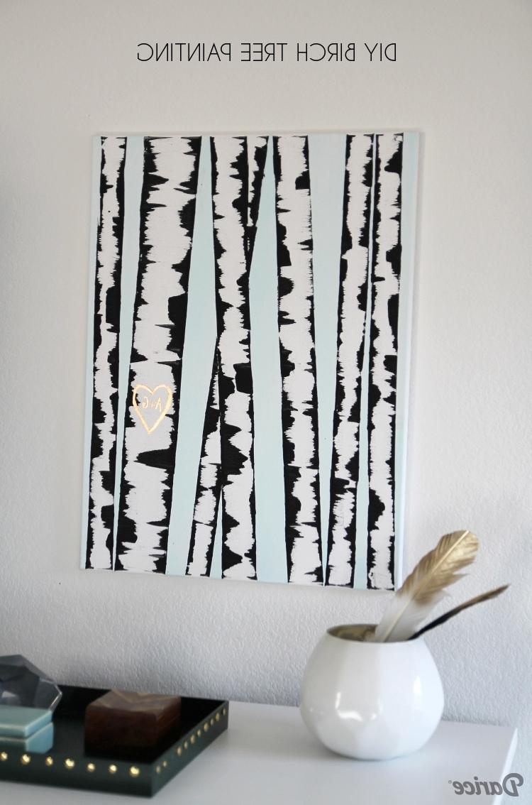 Well Known Birch Tree Wall Art Inside Diy Wall Art: Birch Tree Painting Tutorial – Darice (View 15 of 15)
