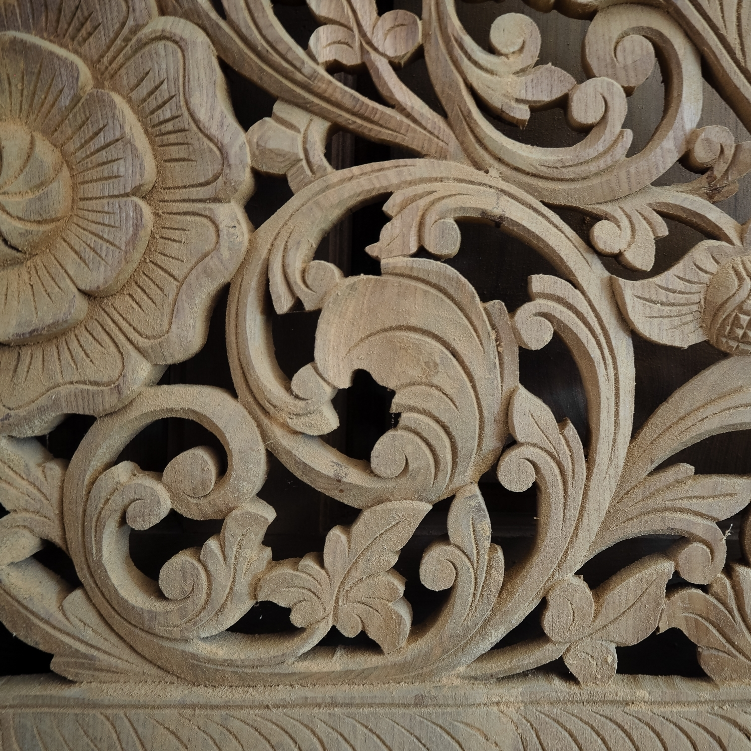 Well Known Buy Carved Bed Panel Oriental Wall Art Decor, Carved Wood Headboard With Regard To Asian Wall Art (View 8 of 15)