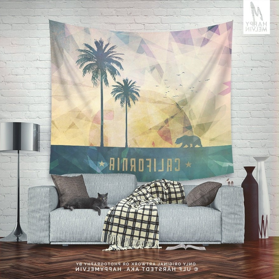 Well Known California Tapestry, Summer Wall Tapestry, Boho Wall Tapestry Pertaining To California Wall Art (View 13 of 15)