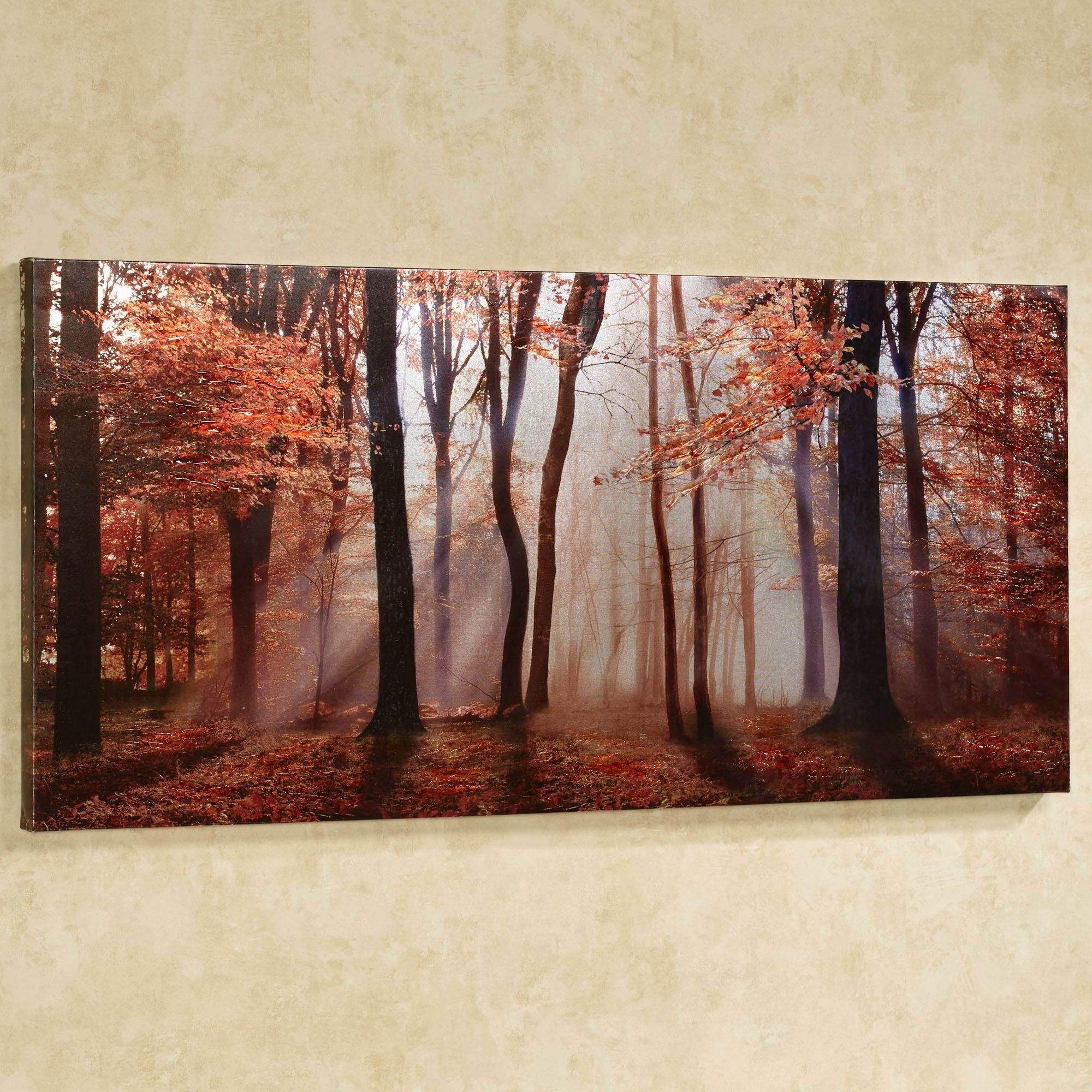 Well Known Canvas Wall Art Regarding Autumns Allure Giclee Canvas Wall Art (View 1 of 15)