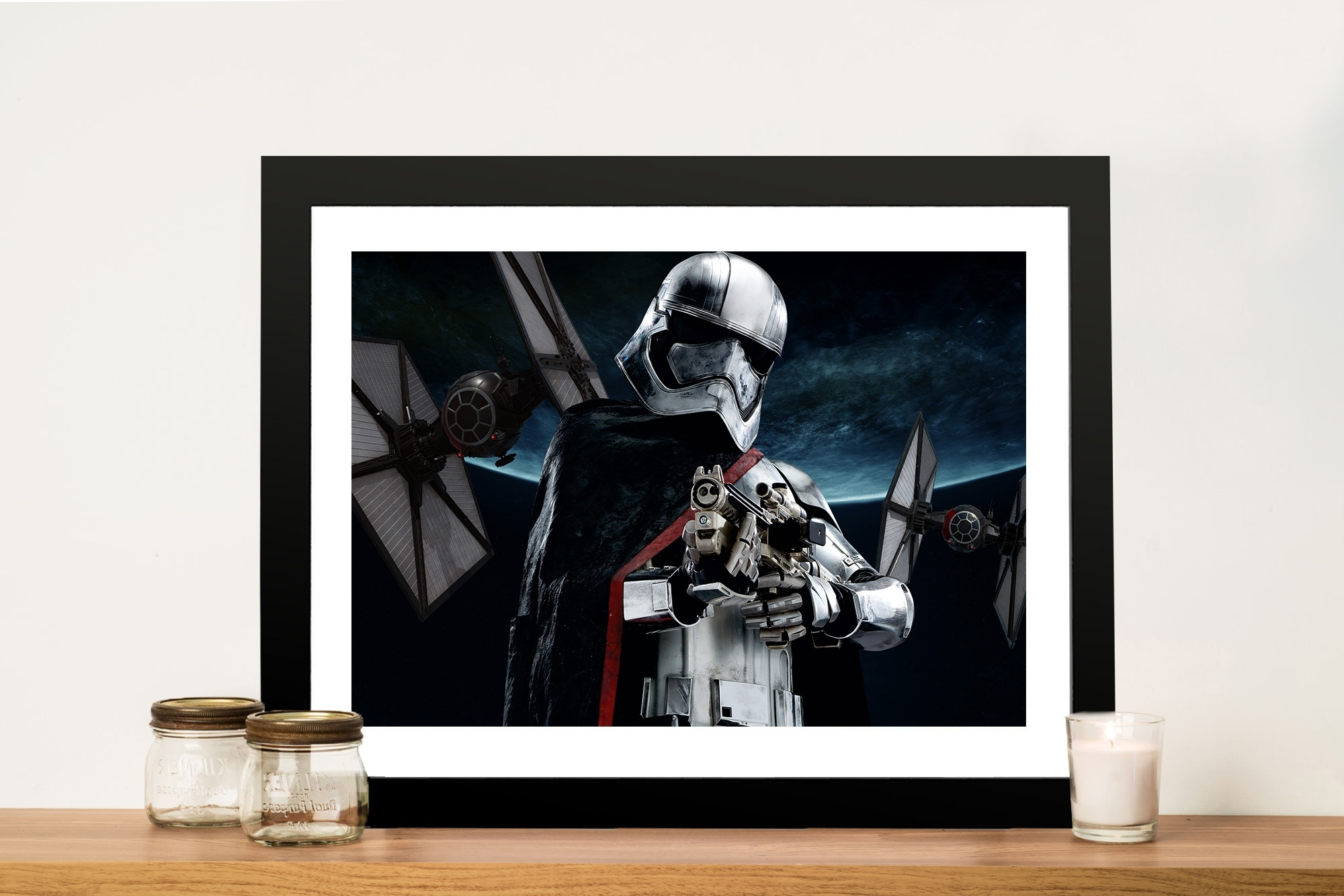 Well Known Captain Phasma Canvas Print Brisbane & Sydney Regarding Darth Vader Wall Art (View 15 of 15)