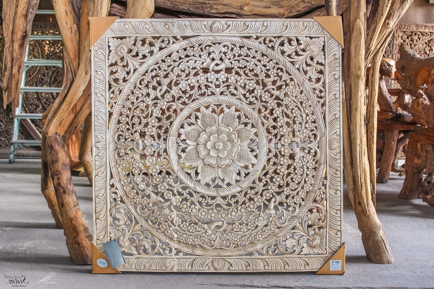 Well Known Carved Wood Wall Decor Target Lovely 20 Top Tree Of Life Wood Inside Wood Carved Wall Art (View 7 of 15)
