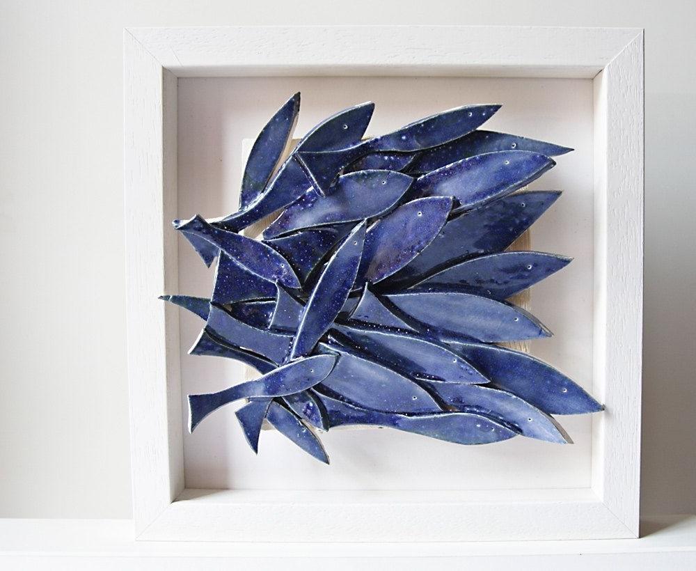 Well Known Ceramic Wall Art, Ceramic Fish Art, Sculptural Pottery Tile, Wall Regarding Ceramic Wall Art (View 12 of 15)