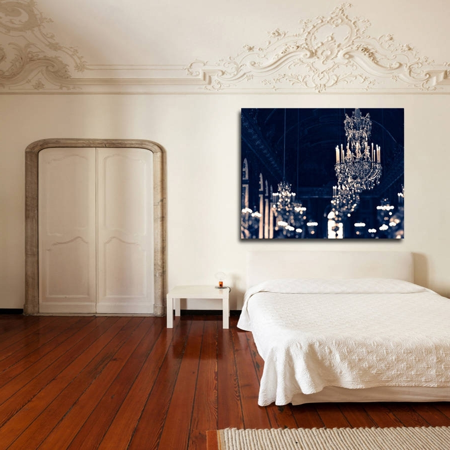 Well Known Chandelier Wall Art Intended For Chandelier Canvas Printruby And B (View 13 of 15)