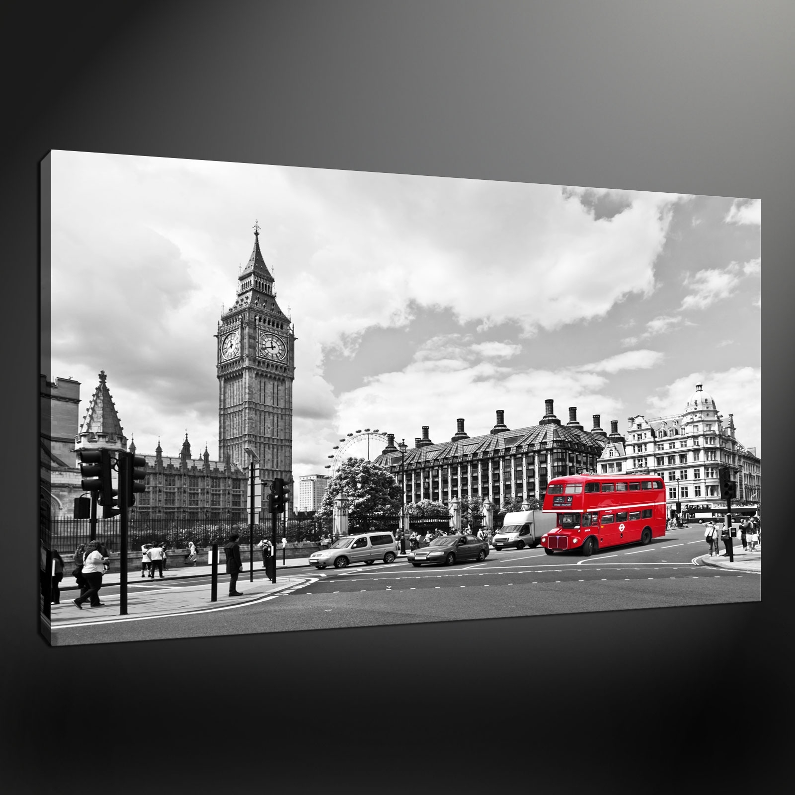 Well Known City London Big Ben Canvas Print Picture With London Wall Art (View 14 of 15)