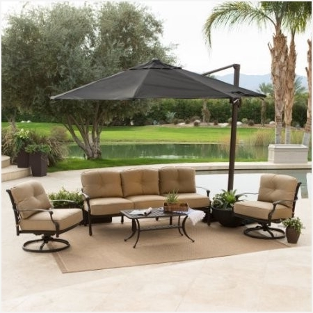 Well Known Coral Coast Offset Patio Umbrellas For 11 Ft Offset Patio Umbrella » Fresh Coral Coast 11 Ft Crank And Tilt (View 13 of 15)