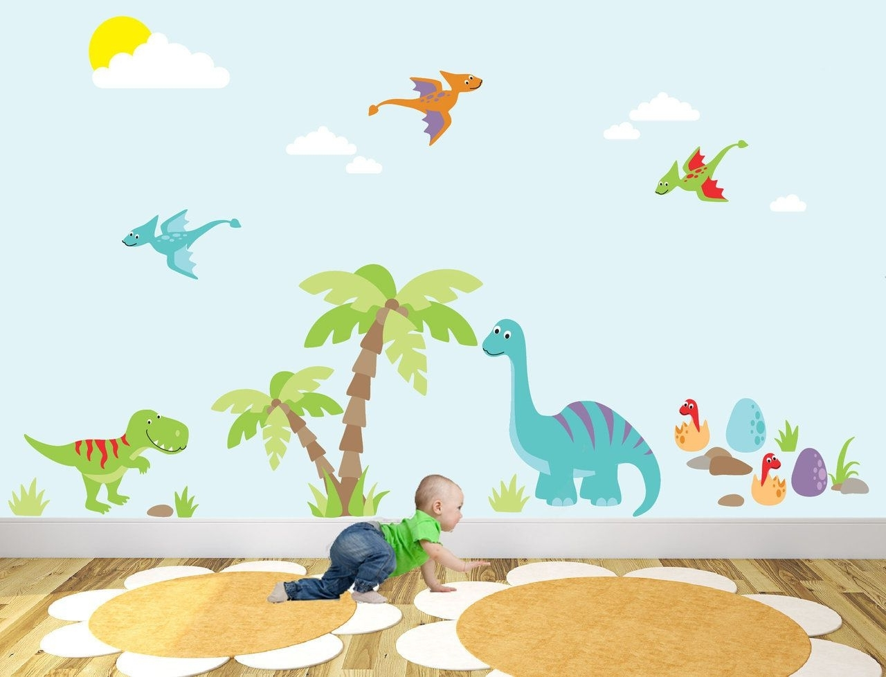 Well Known Dinosaur Wall Art Throughout Captivate Your Child's Imagination With Our Exclusive Luxury Self (View 4 of 15)
