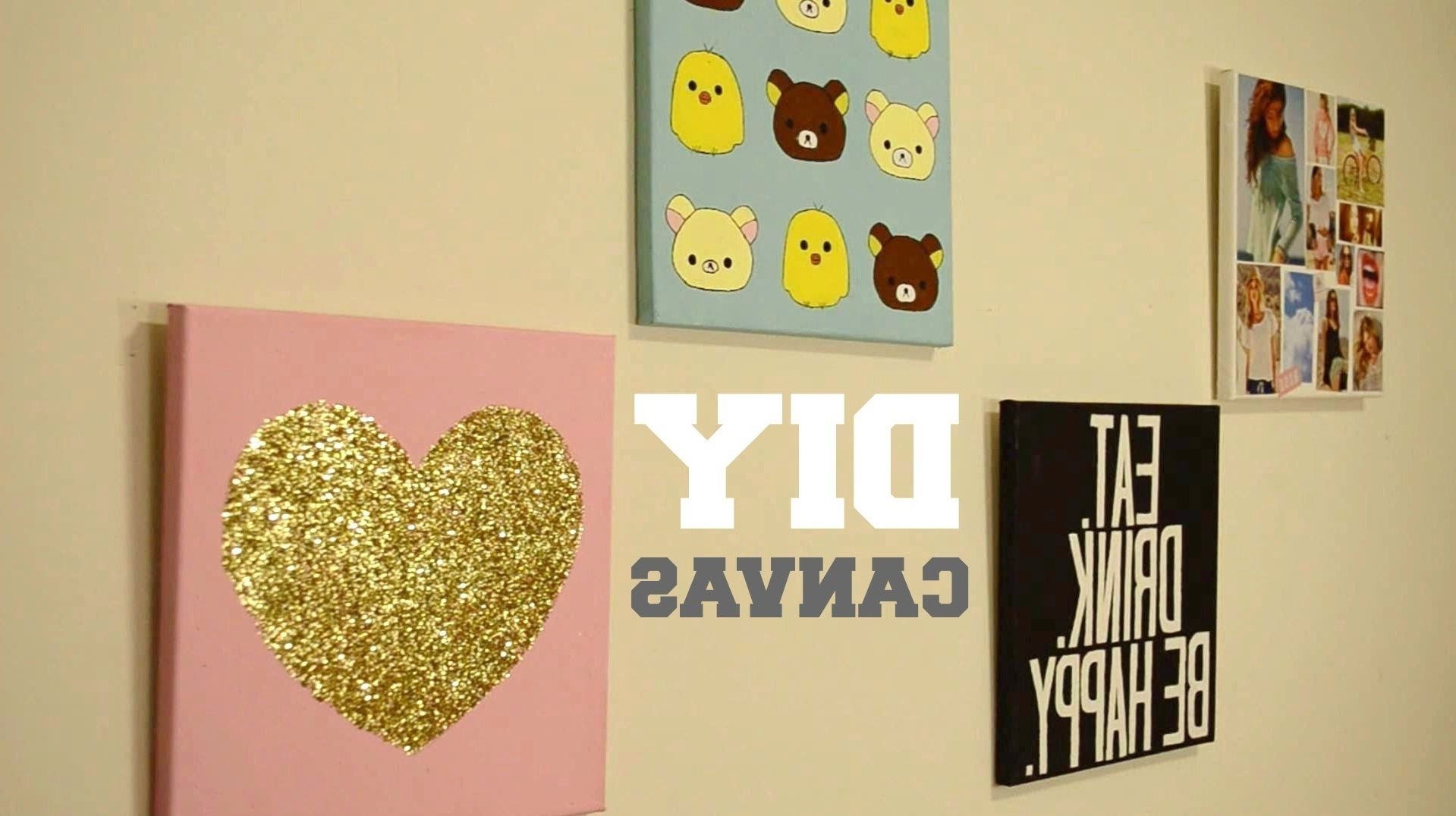 Well Known ✂ Diy Wall Decor: Custom Canvas – Youtube Intended For Diy Wall Art (View 15 of 15)