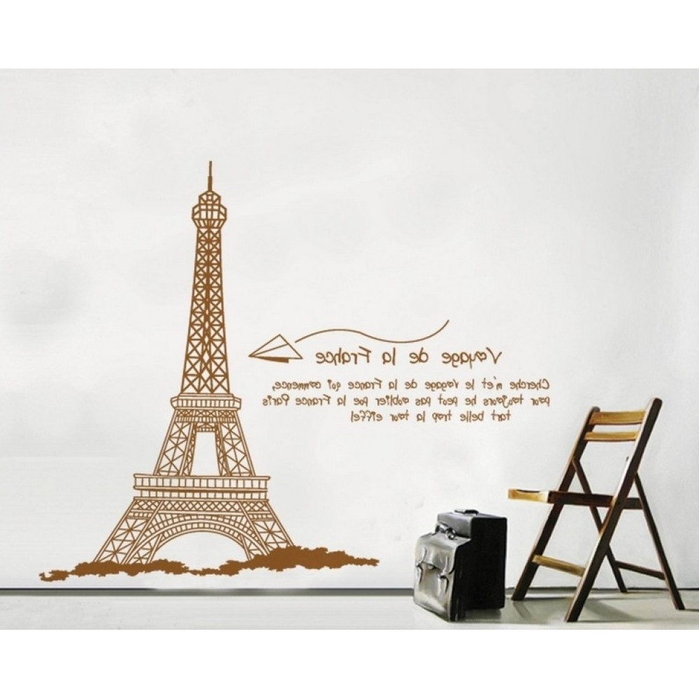 Well Known Eiffel Tower Wall Art With Eiffel Tower Wall Decal (View 3 of 15)