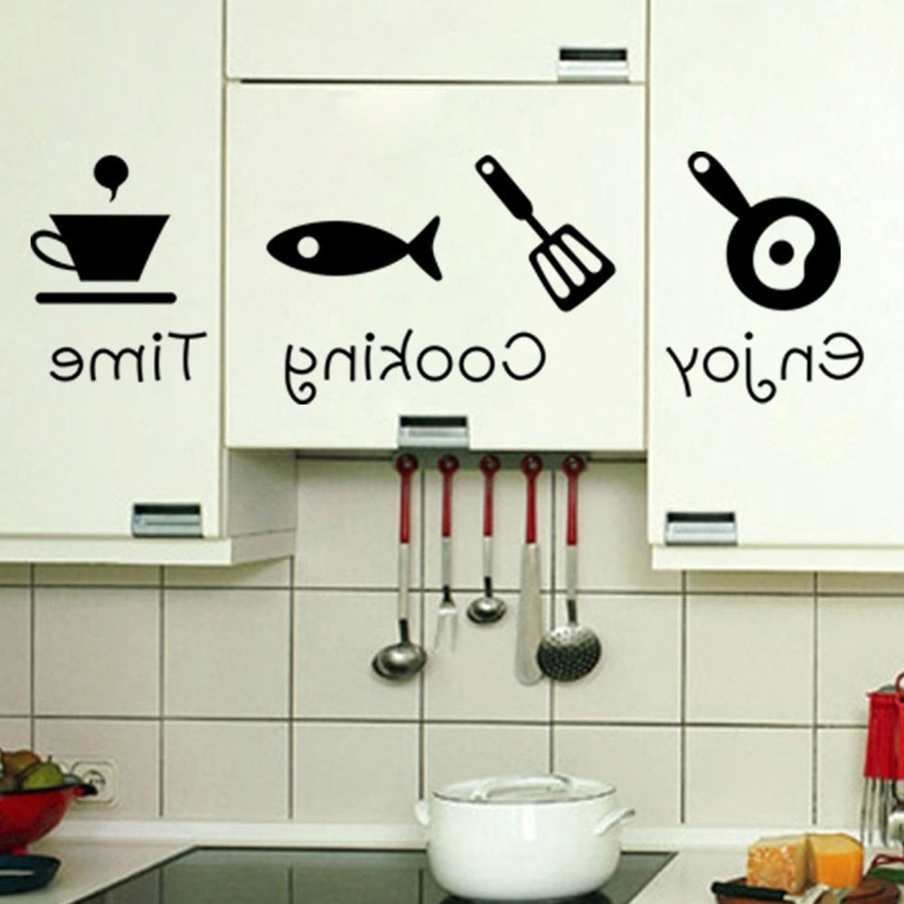 Well Known Fashion Design Creative Diy Wall Stickers Kitchen Decal Home Decor Throughout Kitchen Wall Art (View 10 of 15)