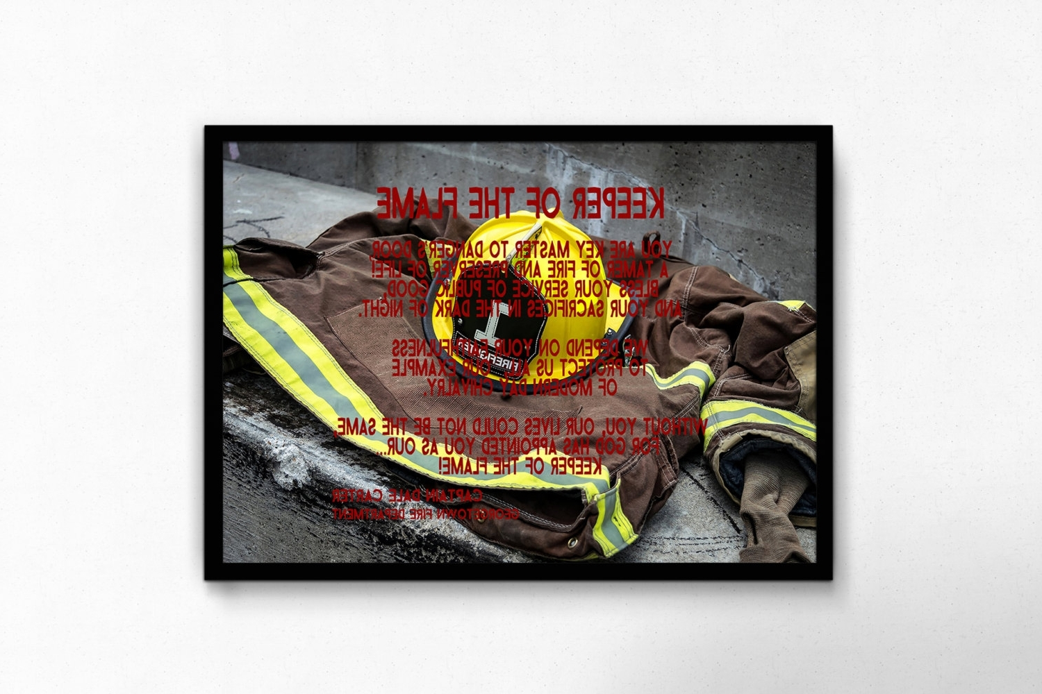 Well Known Firefighter Art Decor Fireman Wall Decor Firefighter Gift Throughout Firefighter Wall Art (View 15 of 15)