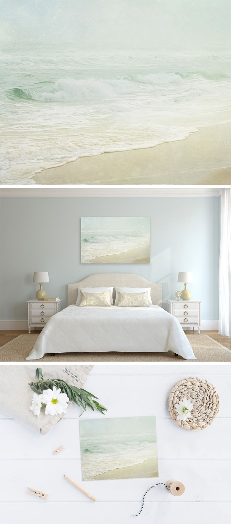 Well Known Foggy Beach – Coastal Wall Art For Your Beach Cottage Decor (View 8 of 15)