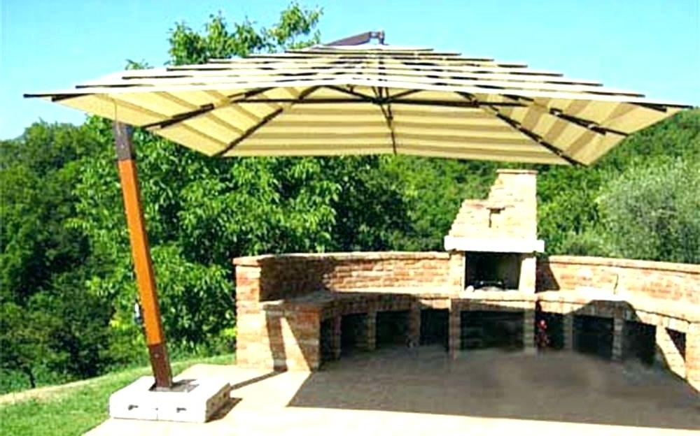 Well Known Giant Patio Umbrellas With Regard To Giant Patio Umbrella S Cntilever Rectngle S Sle Ctemporry Big (View 14 of 15)