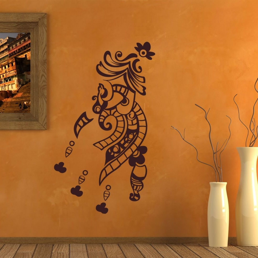 Well Known Henna Wall Art In Henna Wall Sticker (View 11 of 15)
