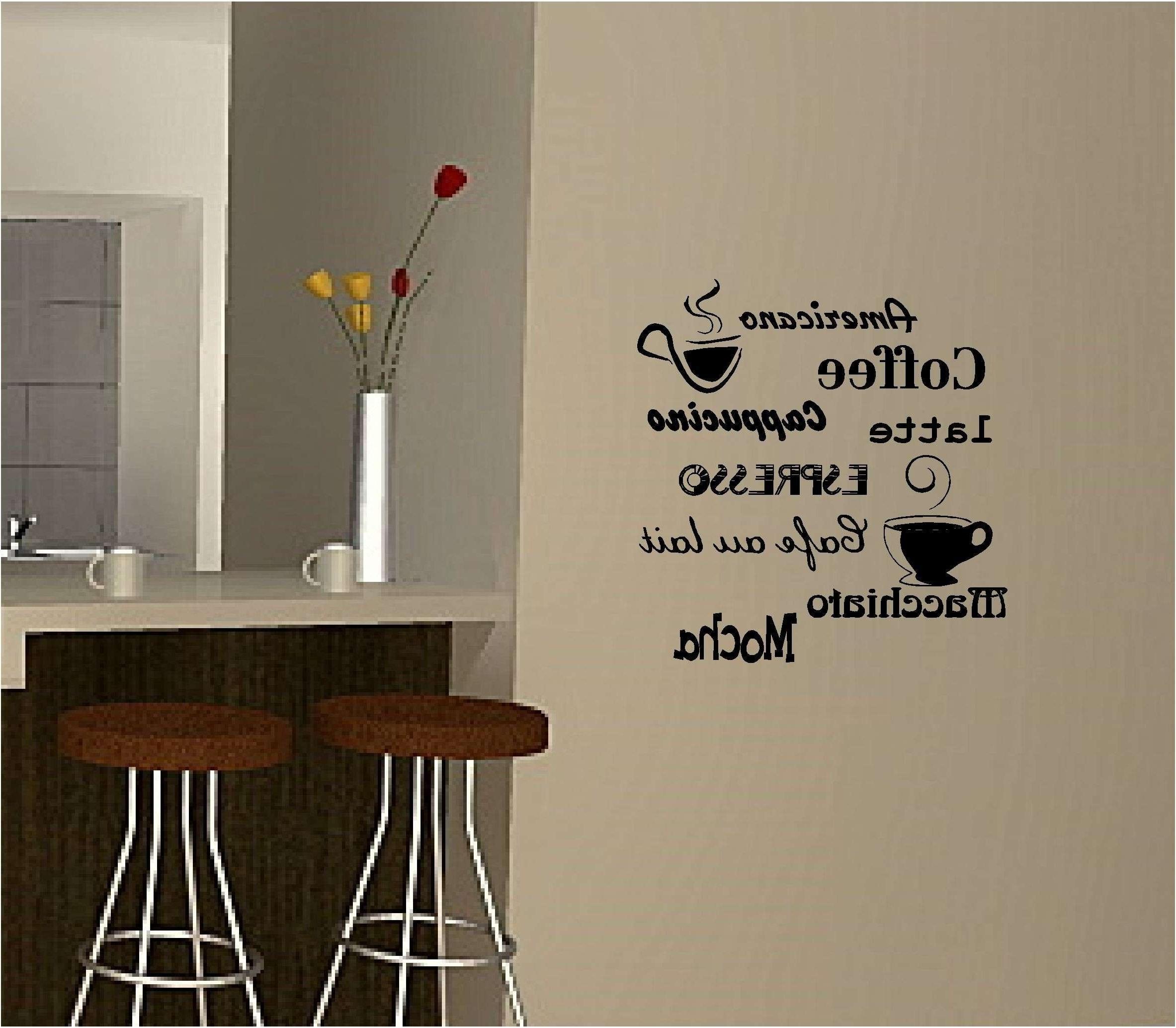 Well Known Kitchen Wall Decor Ideas Fresh Coffee Wall Art Sticker Vinyl Quote Regarding Coffee Wall Art (View 15 of 15)