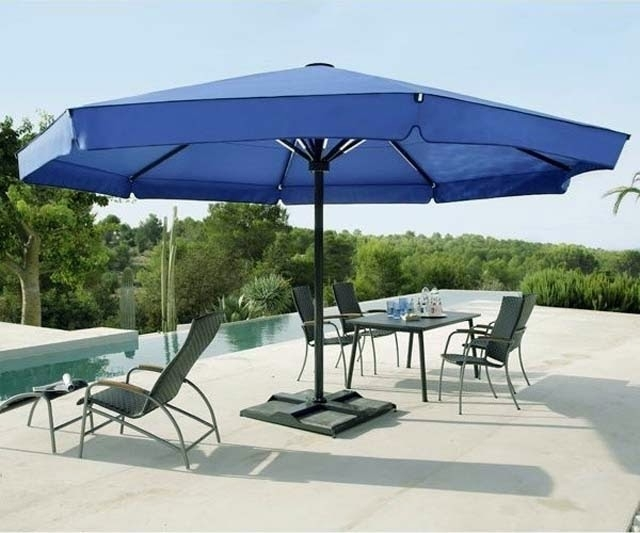 Well Known Large Patio Umbrellas Inside Large Patio Umbrellas For Comfort Outdoor Patio – Ayanahouse (View 8 of 15)