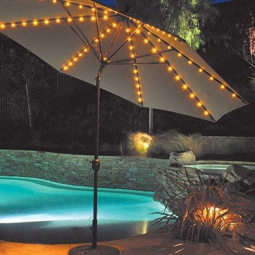 Well Known Lighted Umbrellas For Patio For Lighted Umbrella For Patio Gorgeous Solar Powered Patio Umbrella (View 14 of 15)