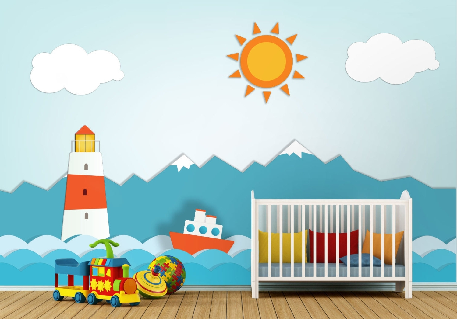 Well Known Lighthouse Nursery Wall Art – Moonwallstickers With Regard To Nursery Wall Art (View 15 of 15)
