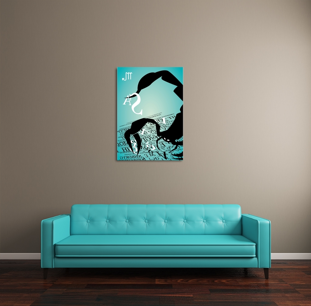Well Known Long Canvas Wall Art For Zodiac Sign Scorpio Canvas Wall Art (View 14 of 15)