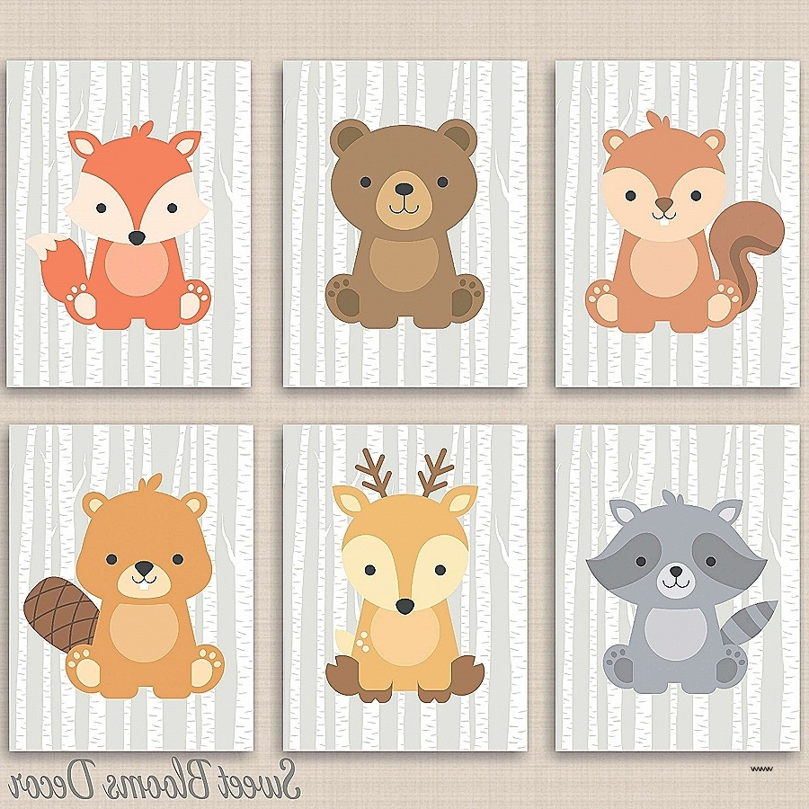 Well Known Lovely Woodland Nursery Wall Art (View 13 of 15)