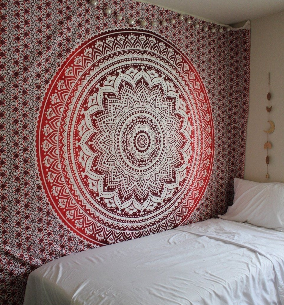 """Well Known Mandala Wall Art Intended For Amazon: Exclusive Branded Ombre Tapestry""""the Boho Street (View 6 of 15)"""