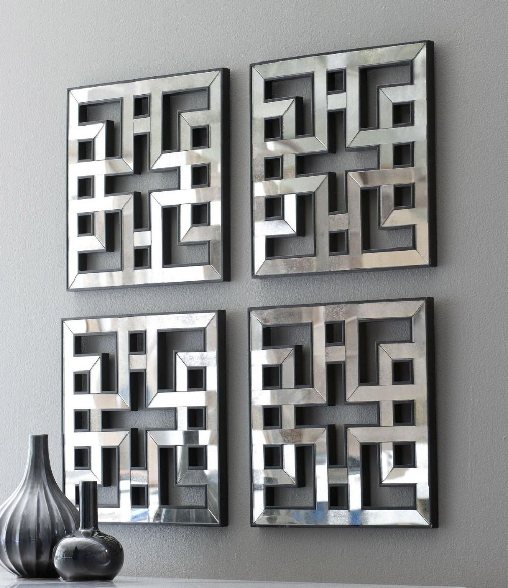 Well Known Mirrored Wall Decor Fretwork Square Mirror Framed Wall Art D F1308 Throughout Mirrored Wall Art (View 14 of 15)