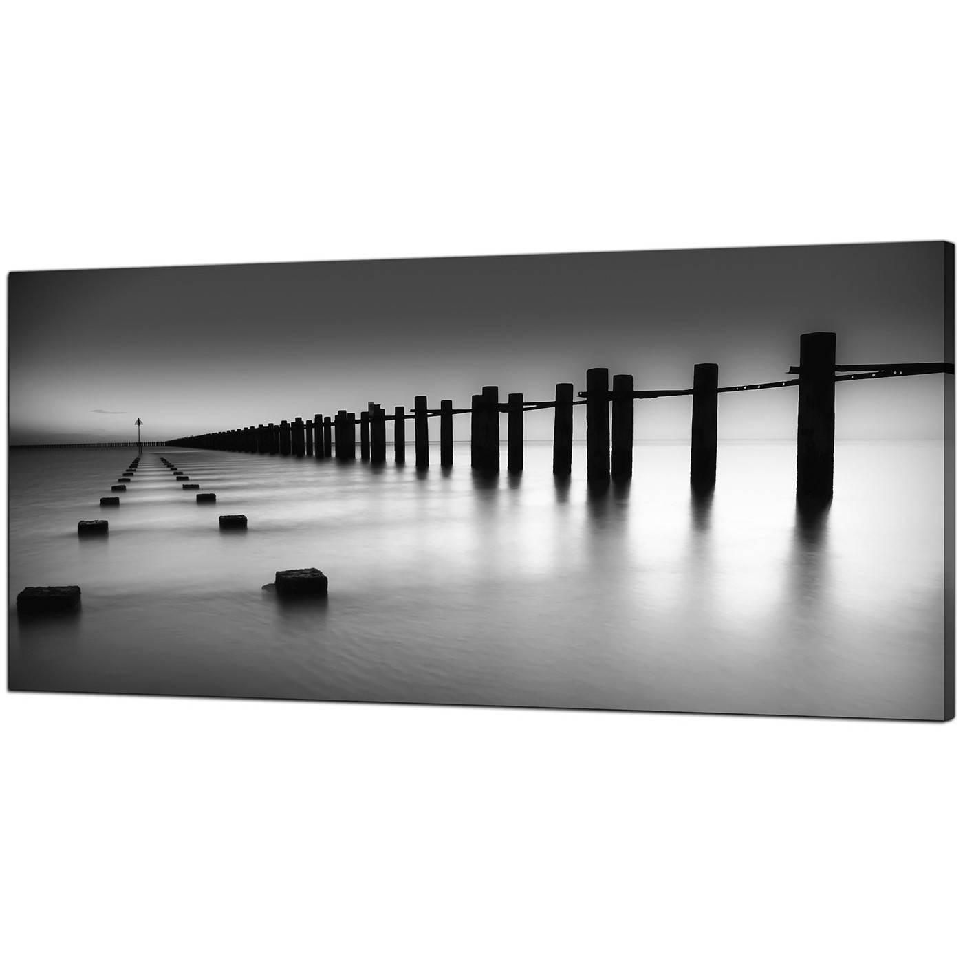Well Known Modern Black And White Canvas Art Of The Sea In Black And White Large Canvas Wall Art (View 4 of 15)