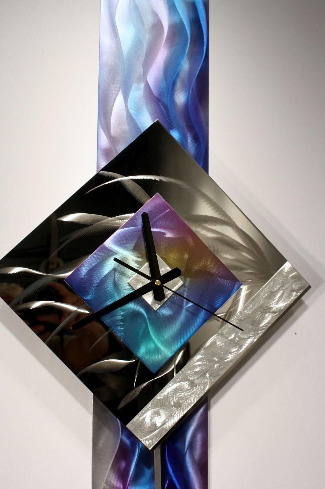 Well Known Modern Metal Wall Art Regarding Modern Metal Wall Art Pendulum Clock Abstract Sculpture Decor (View 6 of 15)
