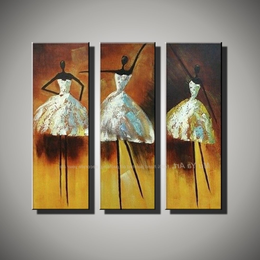 Well Known Modern Painting Canvas Wall Art Regarding Vertical Music Art Knife Painting Canvas Abstract Modern 3 Piece (View 15 of 15)