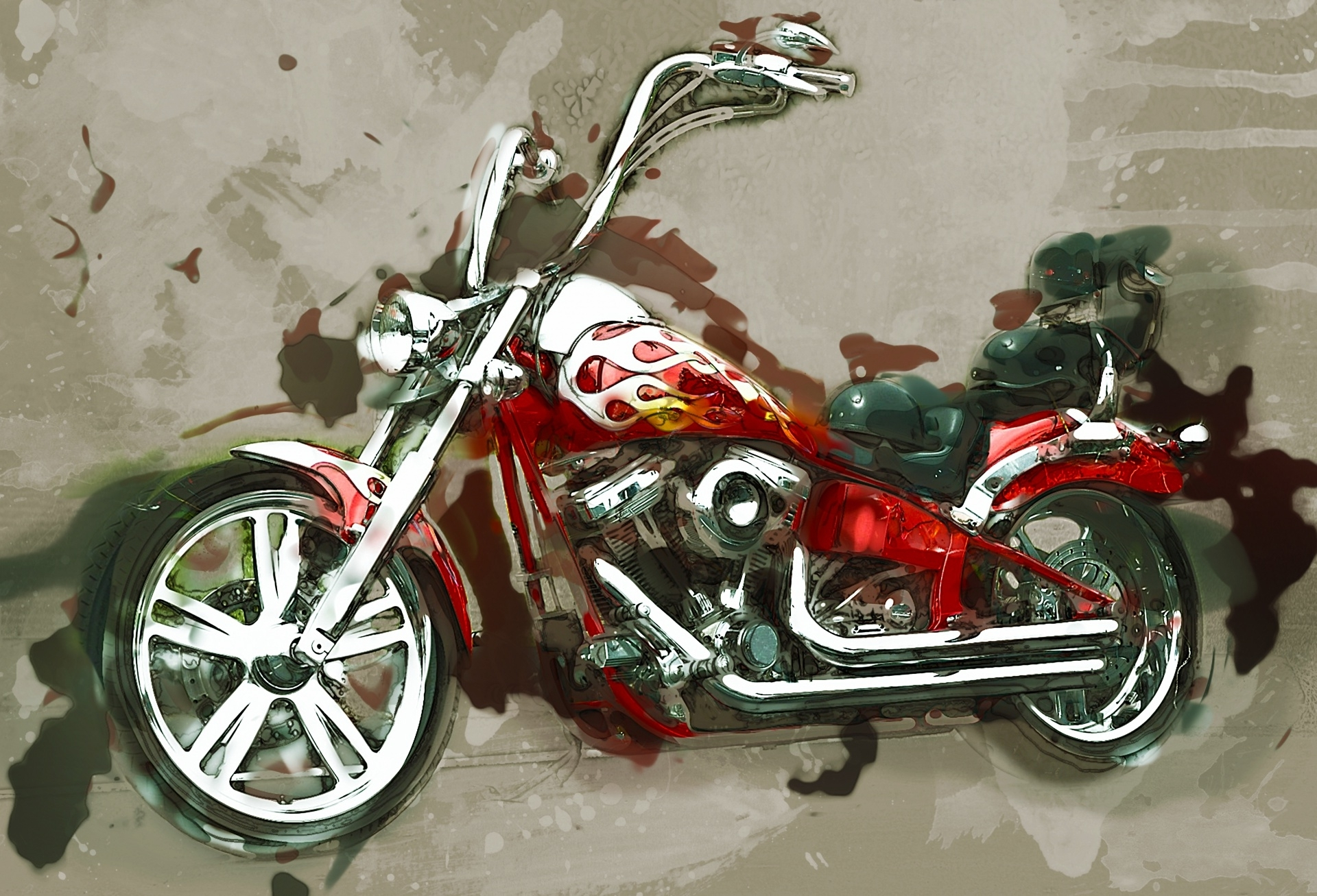 Well Known Motorcycle Wall Art With Regard To Motorcycle Wall Art Free Stock Photo – Public Domain Pictures (View 6 of 15)