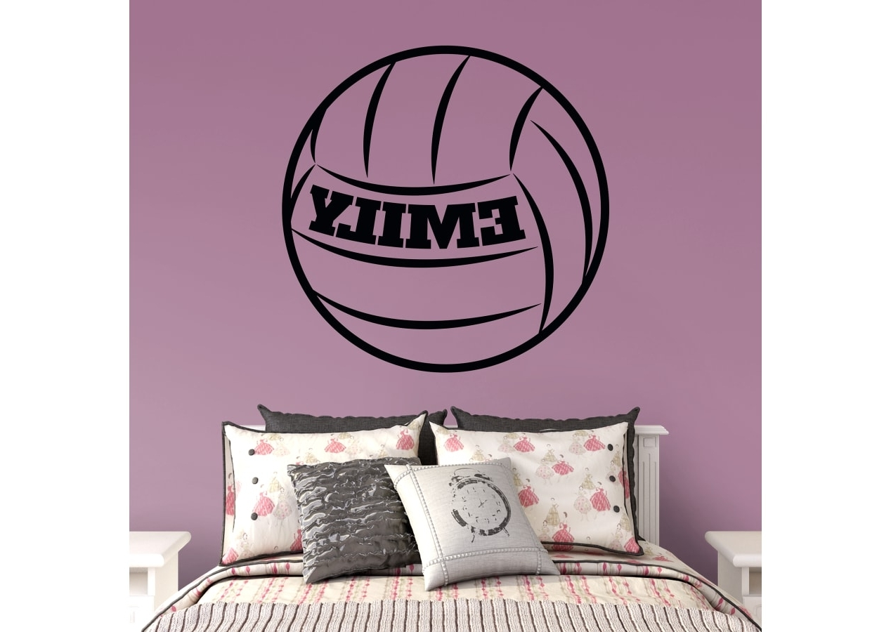 Well Known Name Wall Art Throughout Volleyball Personalized Name Wall Decal (View 10 of 15)