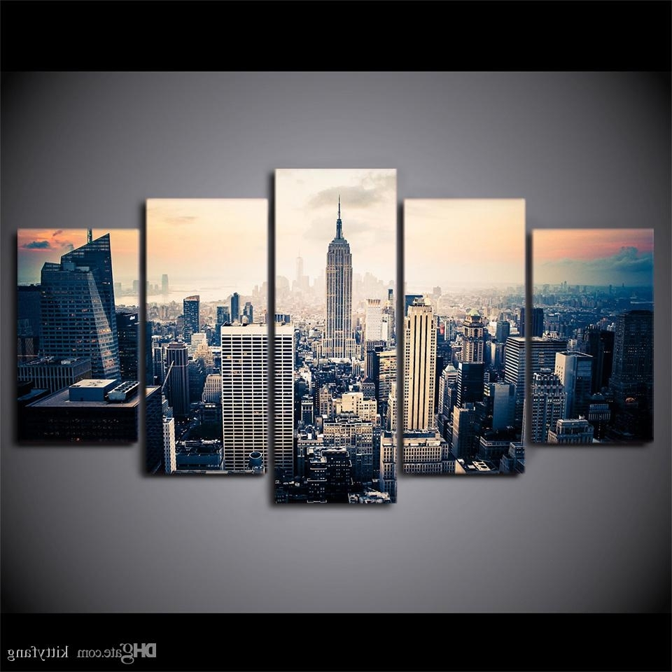 Well Known New York City Wall Art Intended For 2018 Framed Hd Printed New York City Wall Art Canvas Print Poster (View 14 of 15)