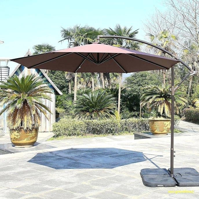 Well Known Offset Patio Umbrellas With Base Inside Offset Patio Umbrellas Design – Patio Furniture (View 15 of 15)