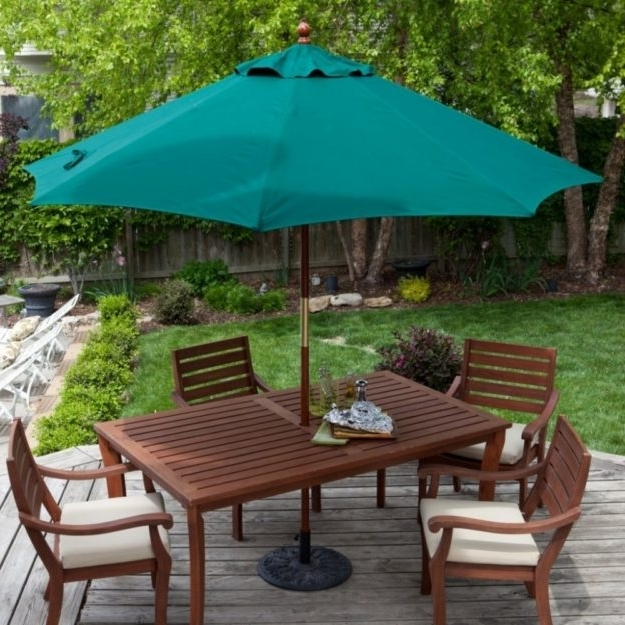 Well Known Patio Furniture Sets With Umbrellas Throughout Elegant Patio Furniture Sets With Umbrella Material Designed For (View 15 of 15)