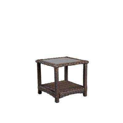 Well Known Patio Umbrellas With Accent Table With Regard To Outdoor Side Tables – Patio Tables – The Home Depot (View 15 of 15)
