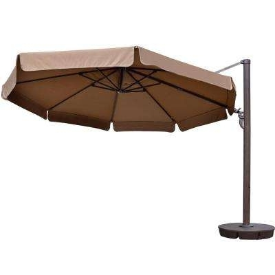 Well Known Patio Umbrellas With Valance Regarding Cantilever Umbrellas – Patio Umbrellas – The Home Depot (View 10 of 15)