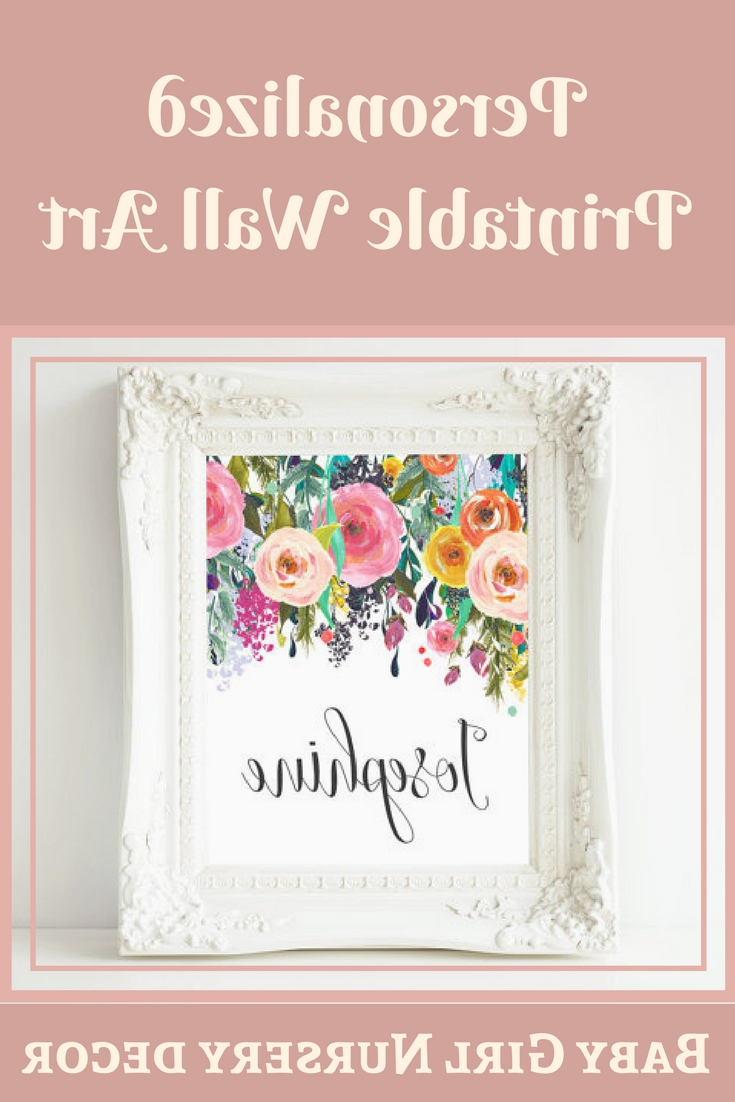 Well Known Personalized Wall Art With Personalized Printable Wall Art, Custom Name Printable Art, Baby (View 12 of 15)