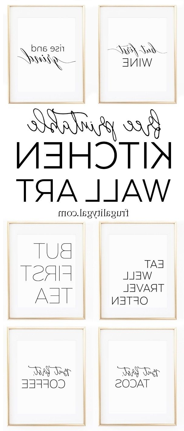 Well Known Printable Wall Art Throughout Kitchen Gallery Wall Printables (View 7 of 15)