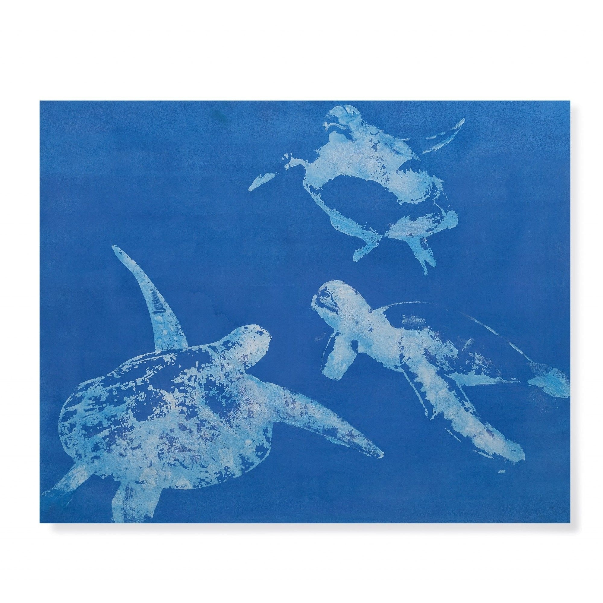 Well Known Sea Turtles Painting Print On Canvas (View 14 of 15)