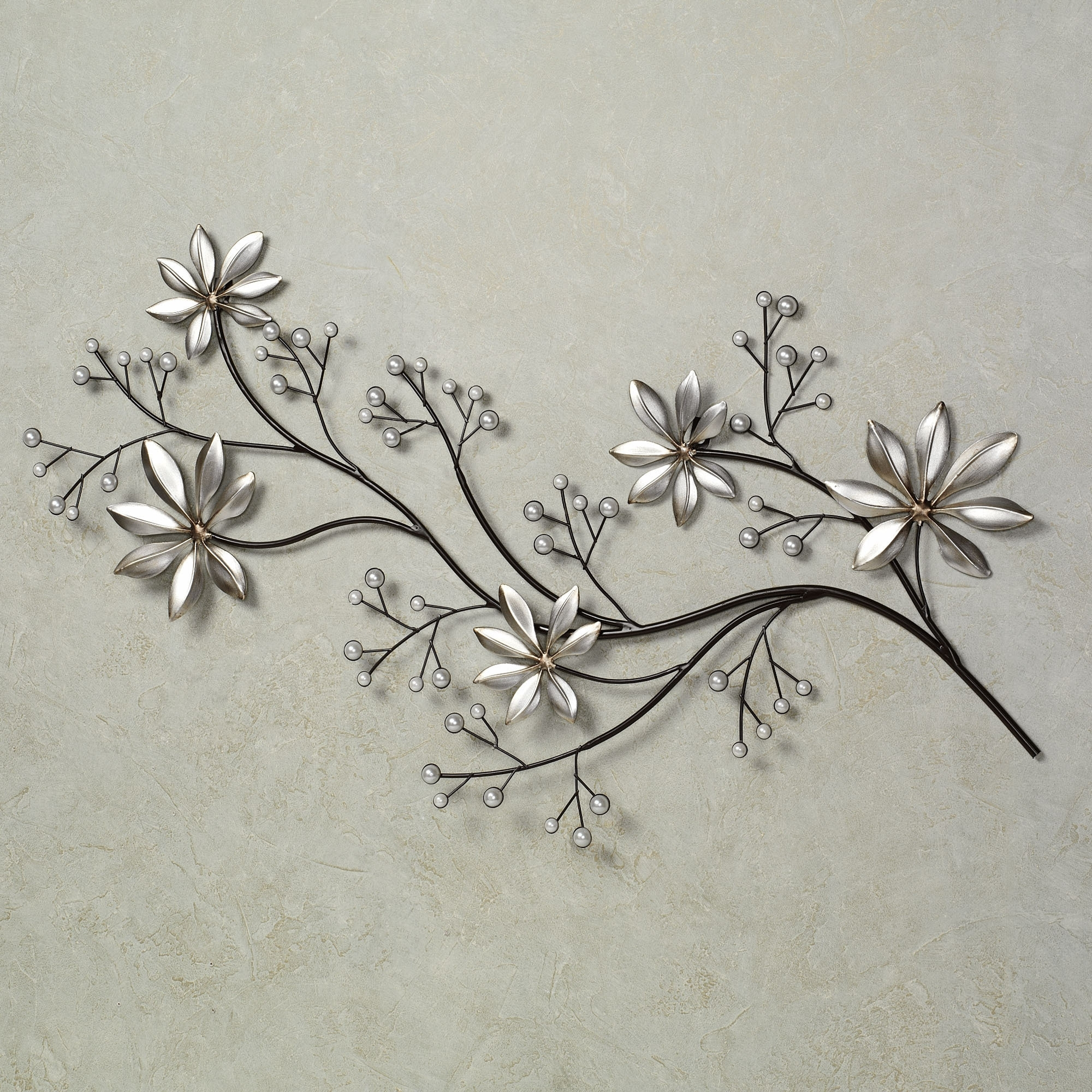 Well Known Silver Metal Wall Art Pertaining To Wall Art Ideas Design : Silver Steel Metal Wall Art Flowers Stained (View 13 of 15)