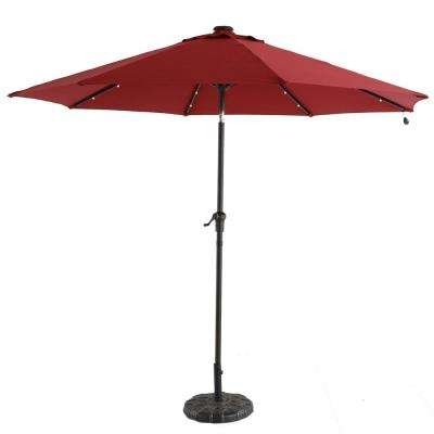 Well Known Solar Led Lighting Included – Patio Umbrellas – Patio Furniture For Led Patio Umbrellas (View 13 of 15)